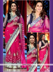 alluring-hot-pink-patch-border-and-stone-work-net-bollywood-designer-saree