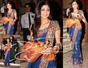 shilpa-shetty-indian-saree1